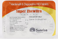 Супер Жевитра (Левитра 20 мг + Дапоксетин 60 мг)