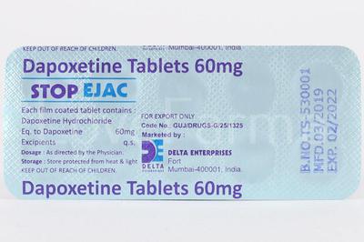 Дапоксетин Stop Ejac 60 мг